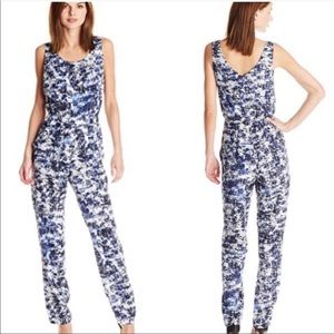 Vince Camuto Blue White Patterned Romper 14